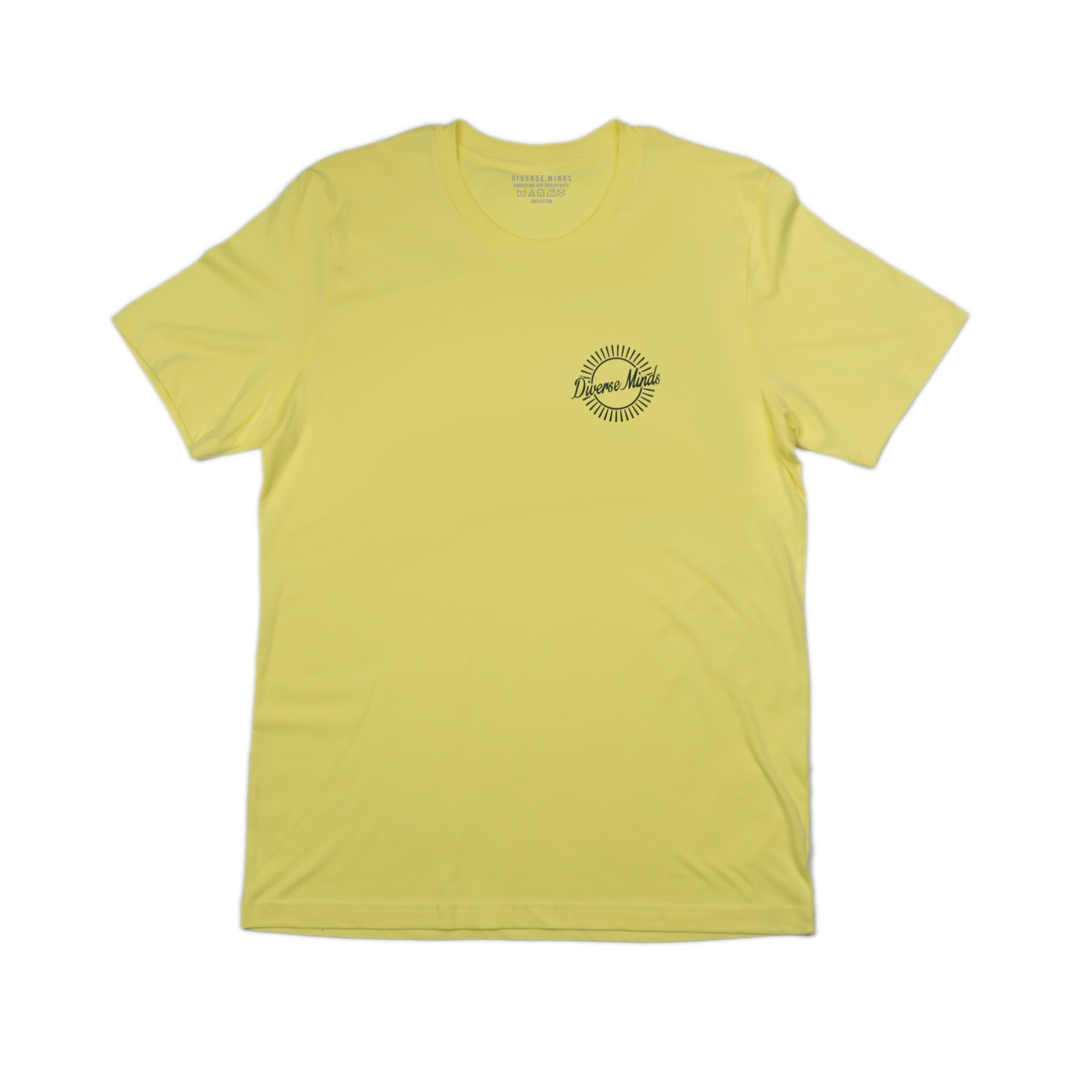 Sun Burst Pastel Yellow T Shirt Diverse Minds