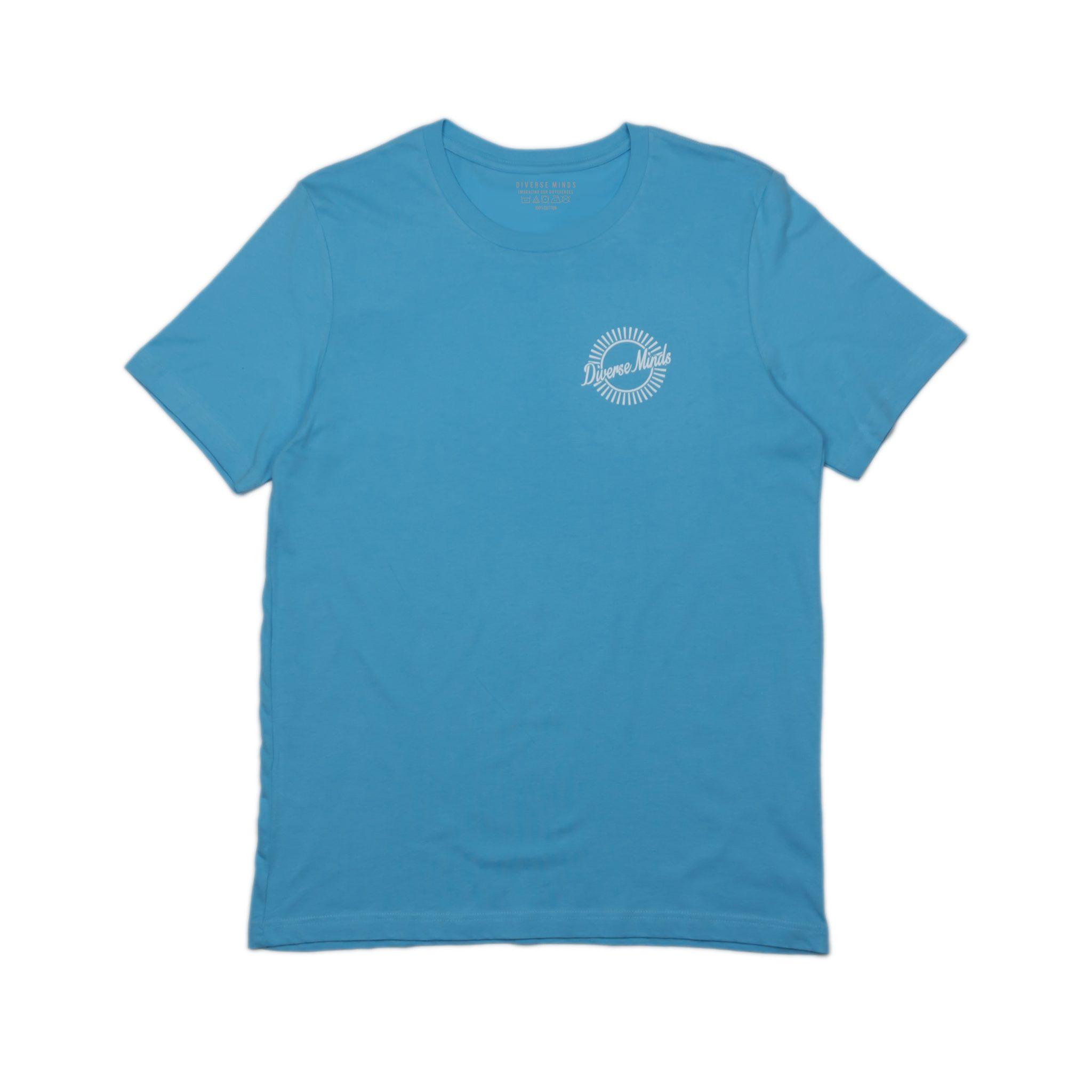 Sun Burst Pastel Blue T-Shirt - Diverse Minds